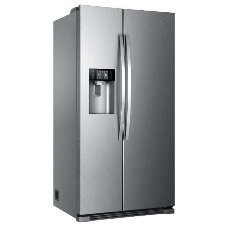frigo us haier inox en a eau gla on surain electro. Black Bedroom Furniture Sets. Home Design Ideas