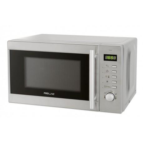 Micro ondes proline inox de 20 litres gril surain electro for Meuble cuisine micro ondes